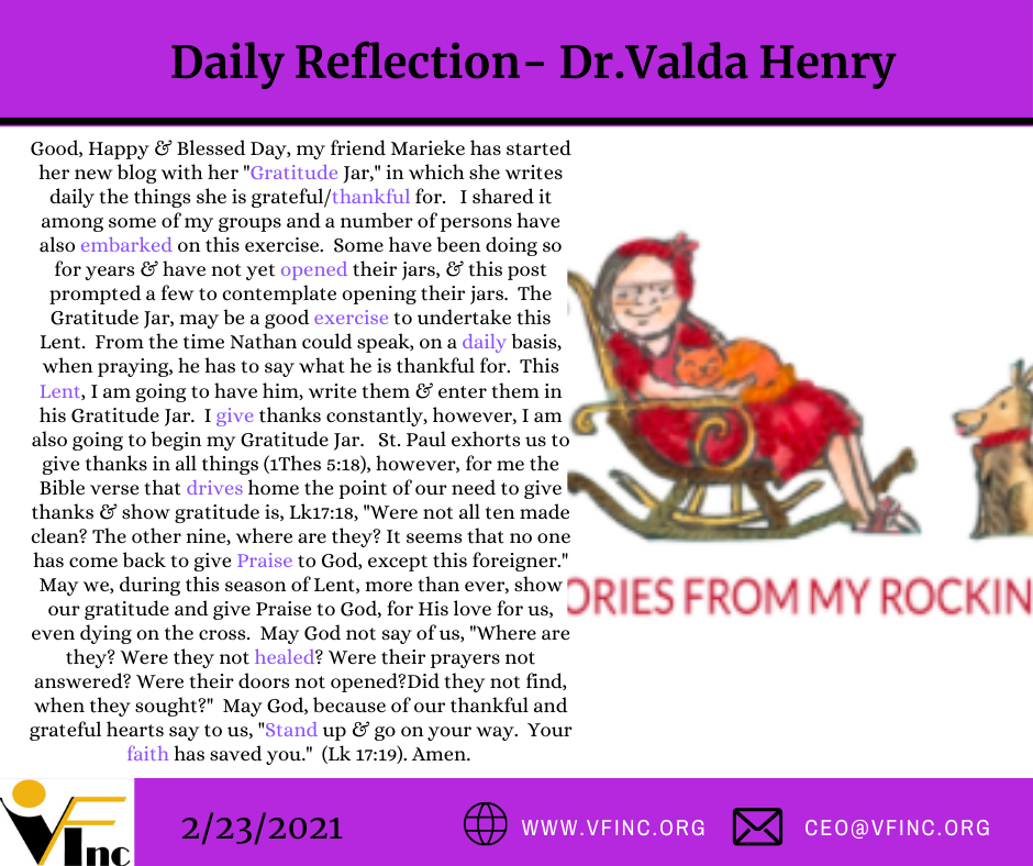 VFINC DAILY RELFECTIONS (25)